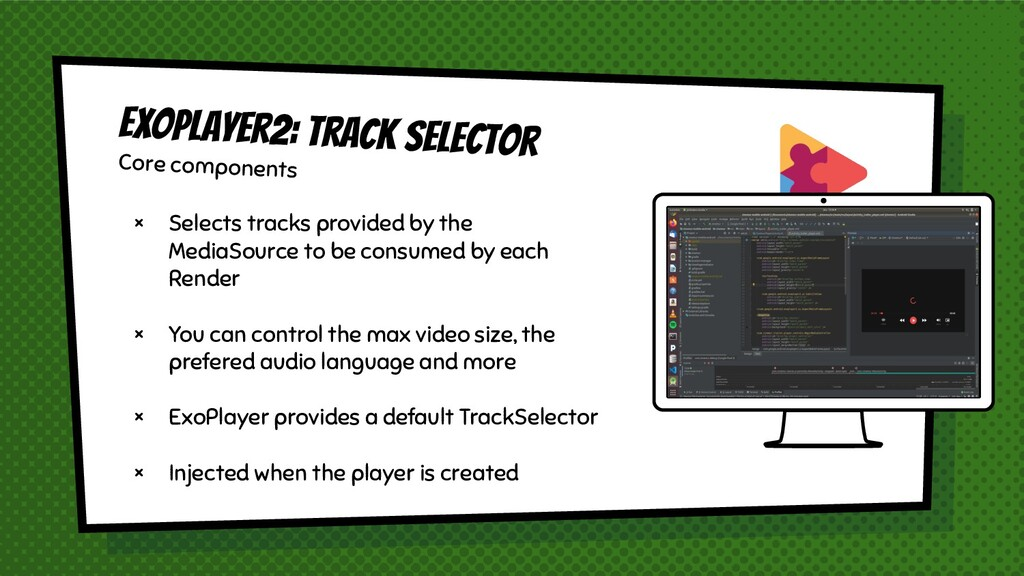 × Selects tracks provided by the MediaSource to...