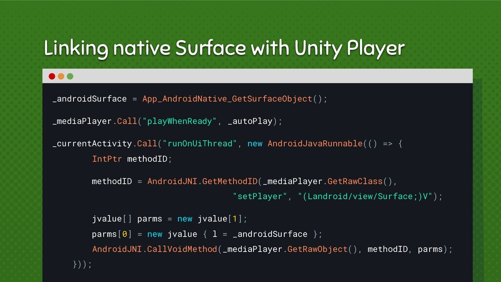 Linking native Surface with Unity Player _andro...