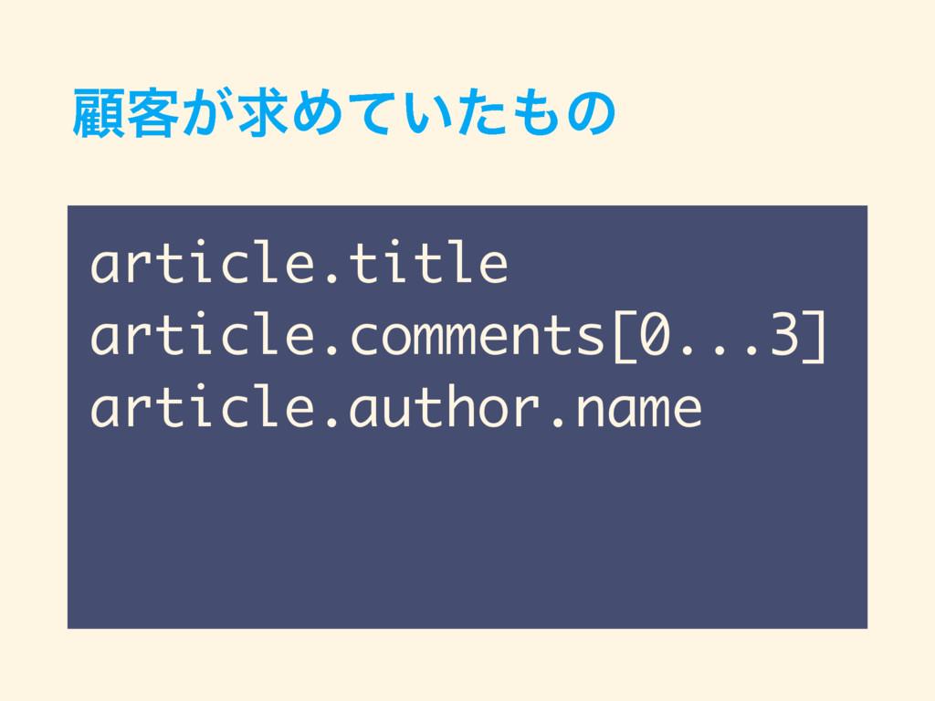 ސ٬͕ٻΊ͍ͯͨͷ article.title article.comments[0...3...