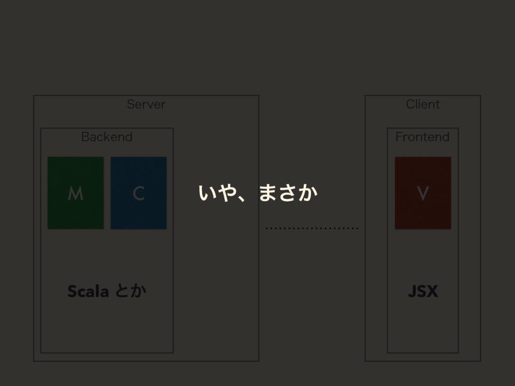 4FSWFS #BDLFOE 'SPOUFOE M C V $MJFOU Scala ͱ͔ J...
