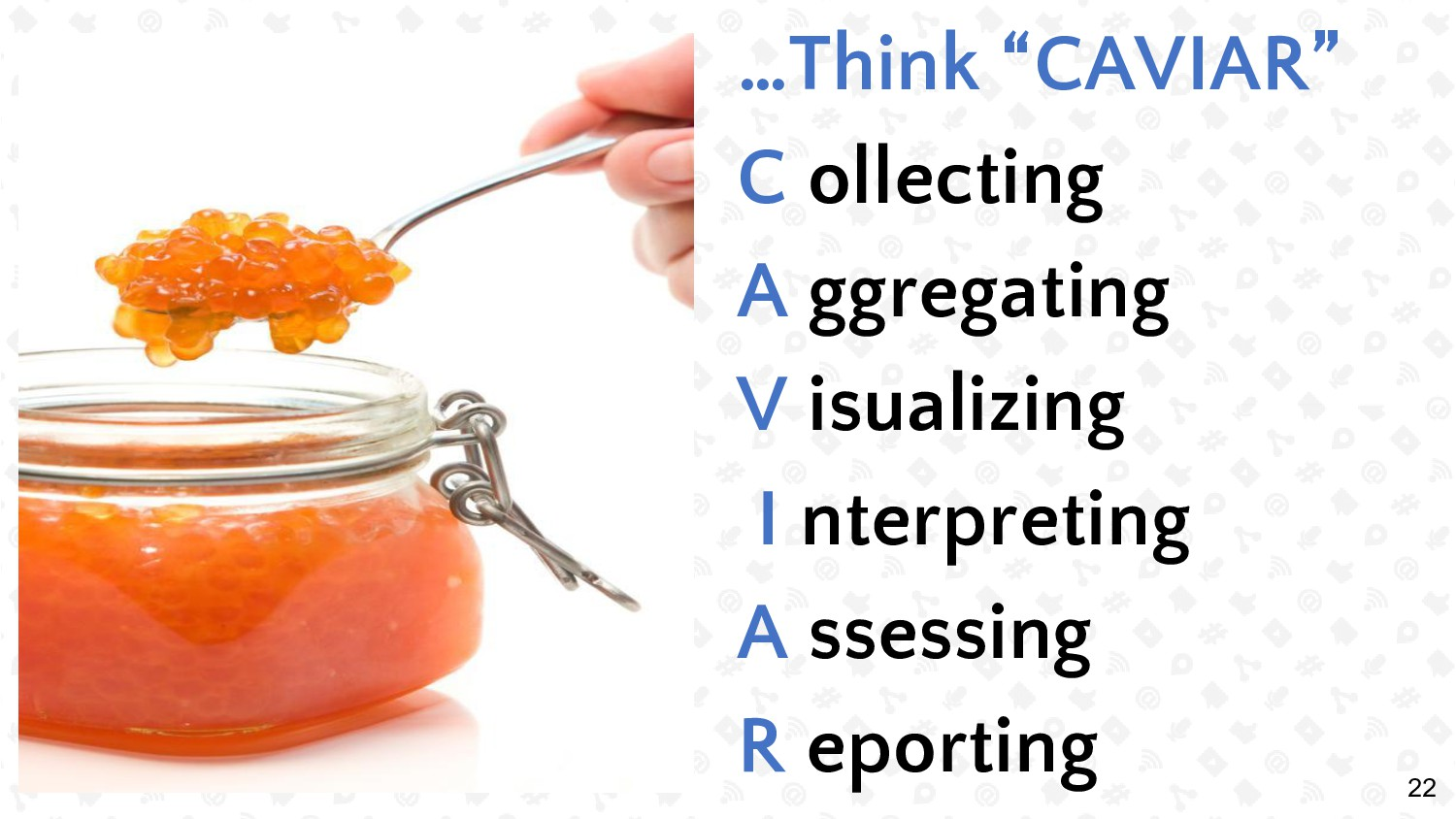 "22 …Think ""CAVIAR"" C ollecting A ggregating V i..."