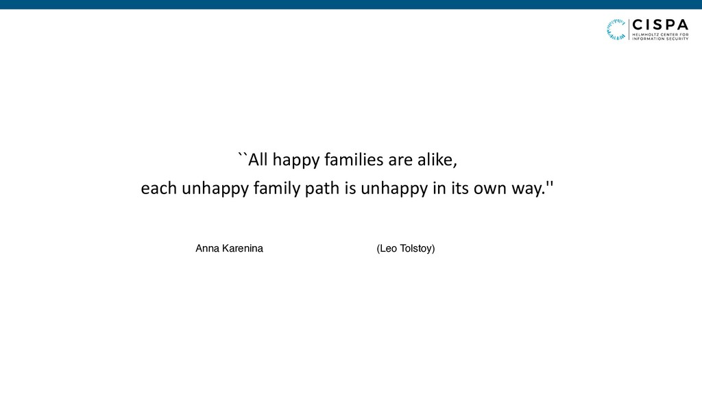 ``All happy families are alike, each unhappy fa...