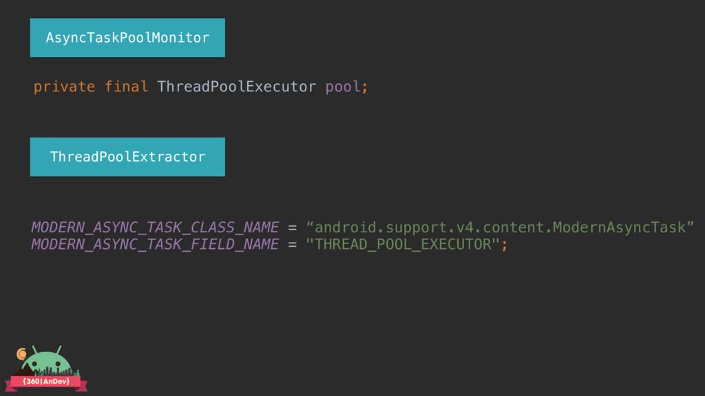 private final ThreadPoolExecutor pool; MODERN_A...