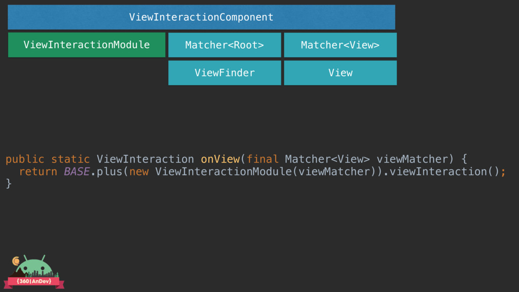 ViewInteractionModule Matcher<Root> ViewFinder ...