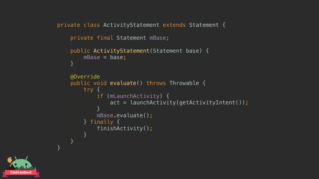 private class ActivityStatement extends Stateme...