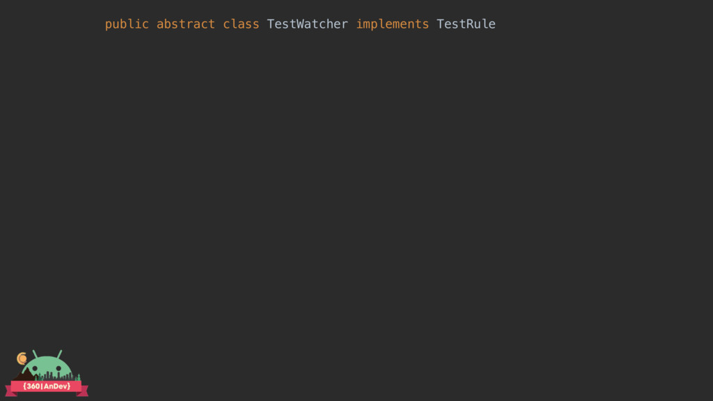 public abstract class TestWatcher implements Te...