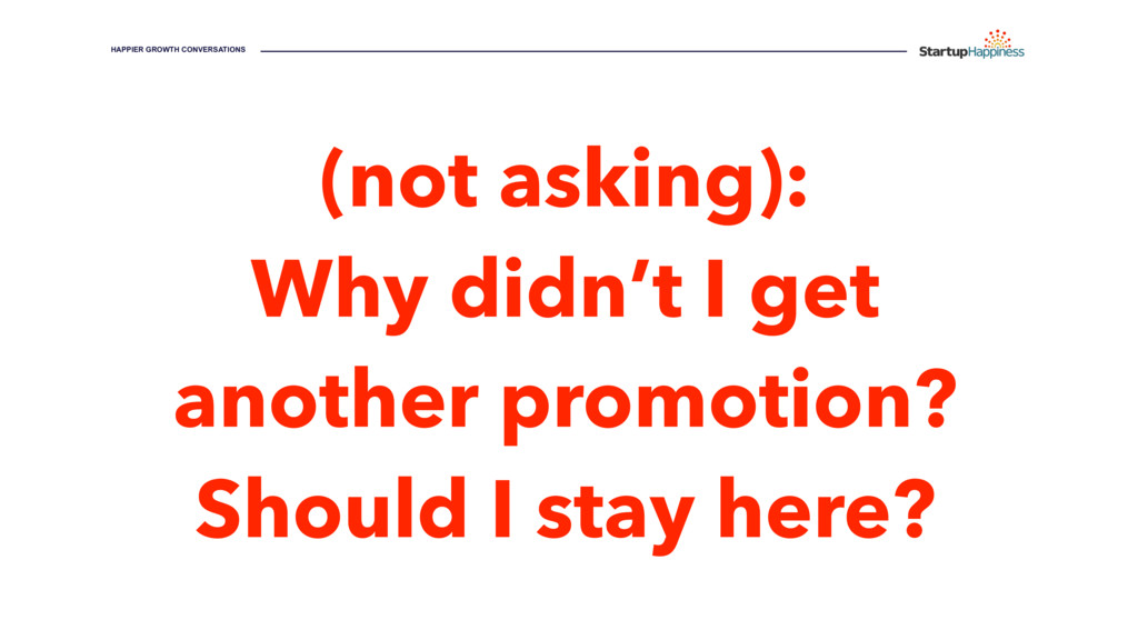 (not asking): Why didn't I get another promotio...