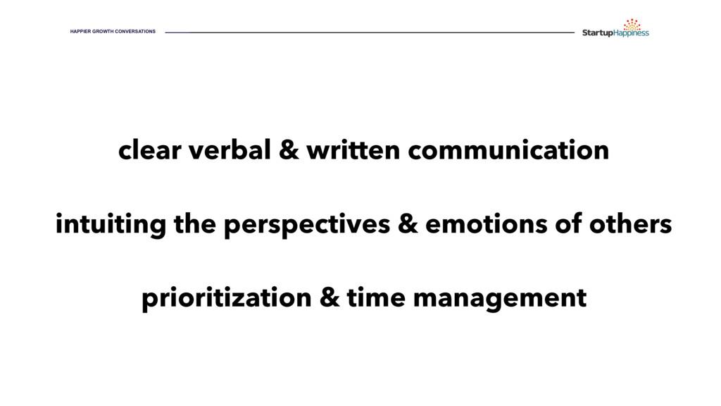 HAPPIER GROWTH CONVERSATIONS clear verbal & wri...
