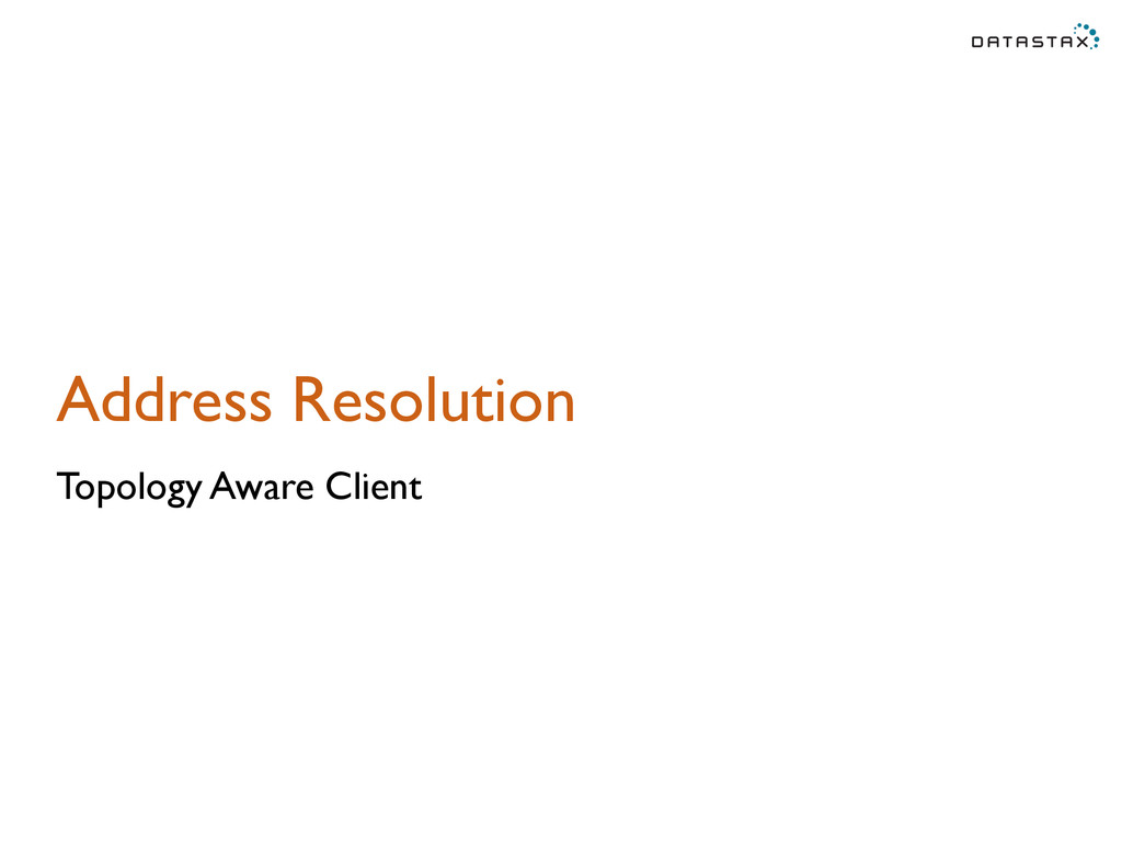 Address Resolution Topology Aware Client