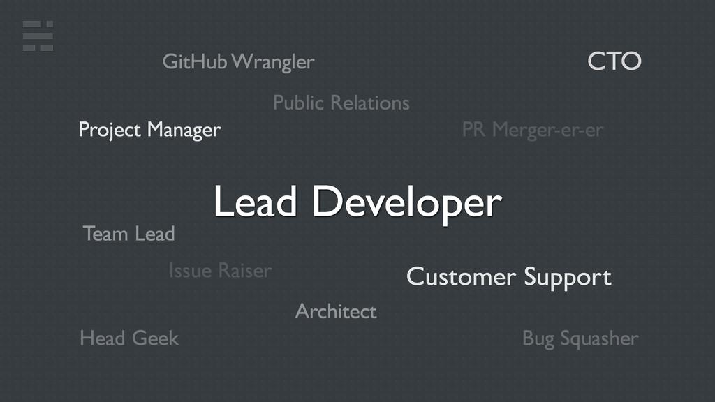 CTO Lead Developer Head Geek GitHub Wrangler Cu...