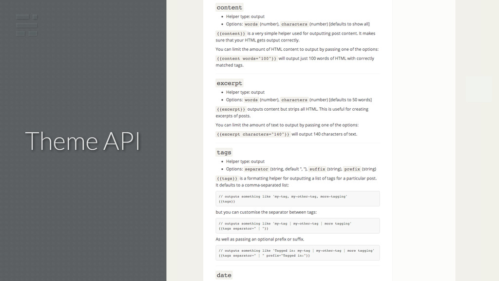 Theme API