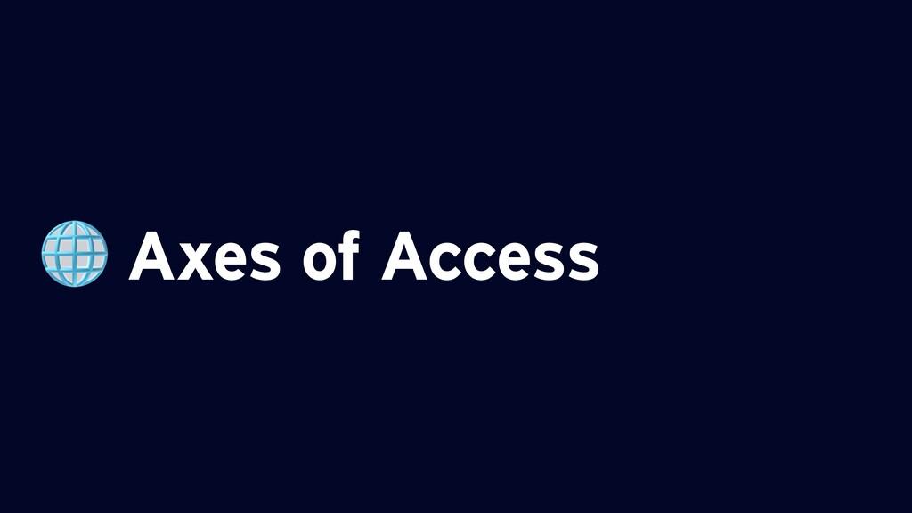 Axes of Access