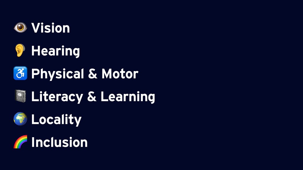 Vision  Hearing ♿ Physical & Motor  Literacy &...