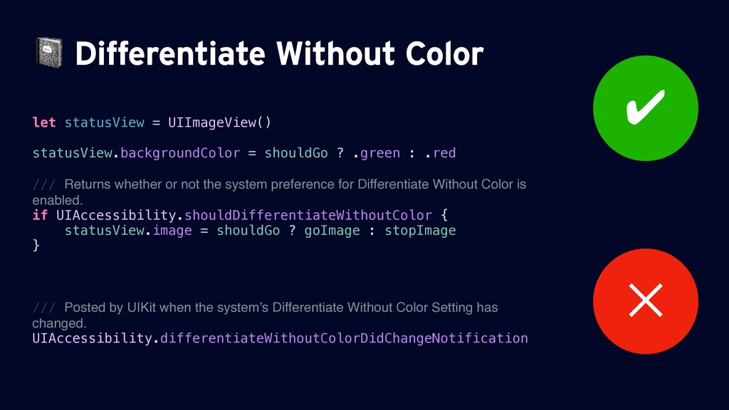 Differentiate Without Color let statusView = U...