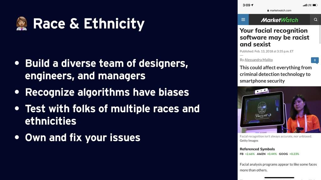 ⚕ Race & Ethnicity • Build a diverse team of de...