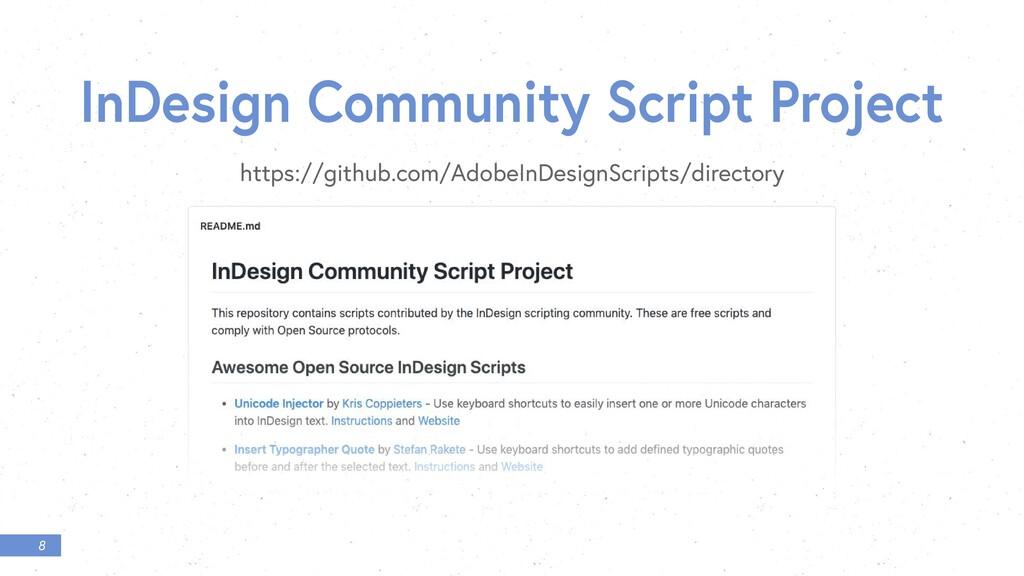8 InDesign Community Script Project https://git...