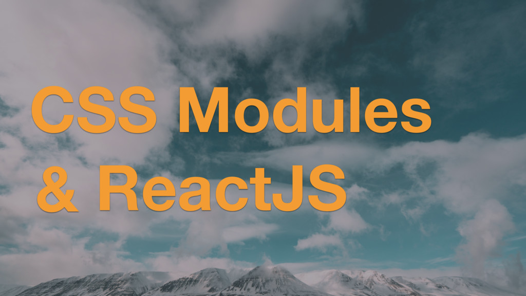 CSS Modules ReactJS &