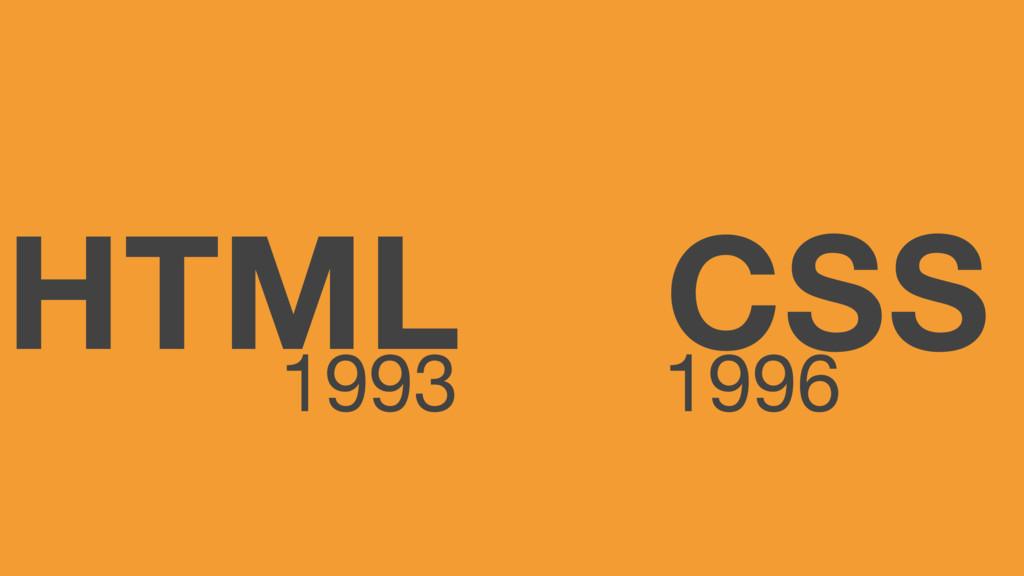 HTML CSS 1993 1996