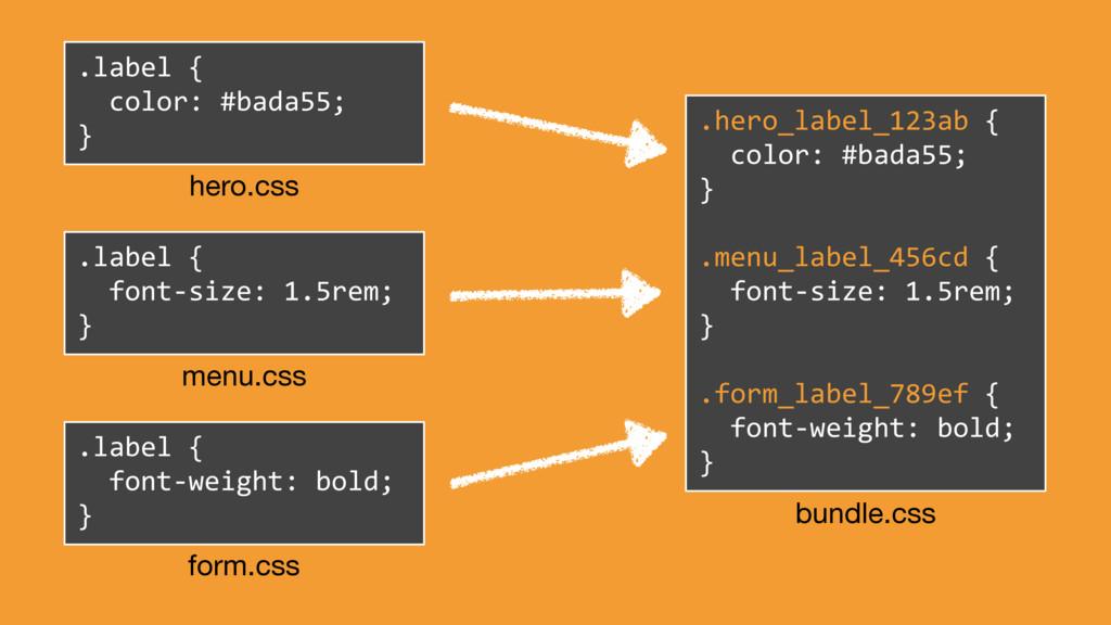 .label { font-size: 1.5rem; } menu.css .label {...