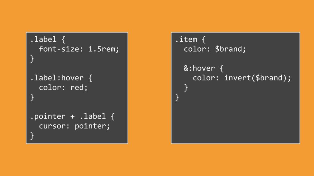 .label { font-size: 1.5rem; } .label:hover { co...