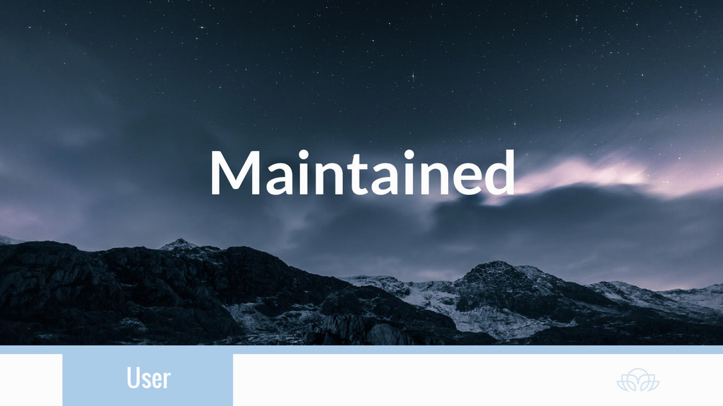 User Maintained
