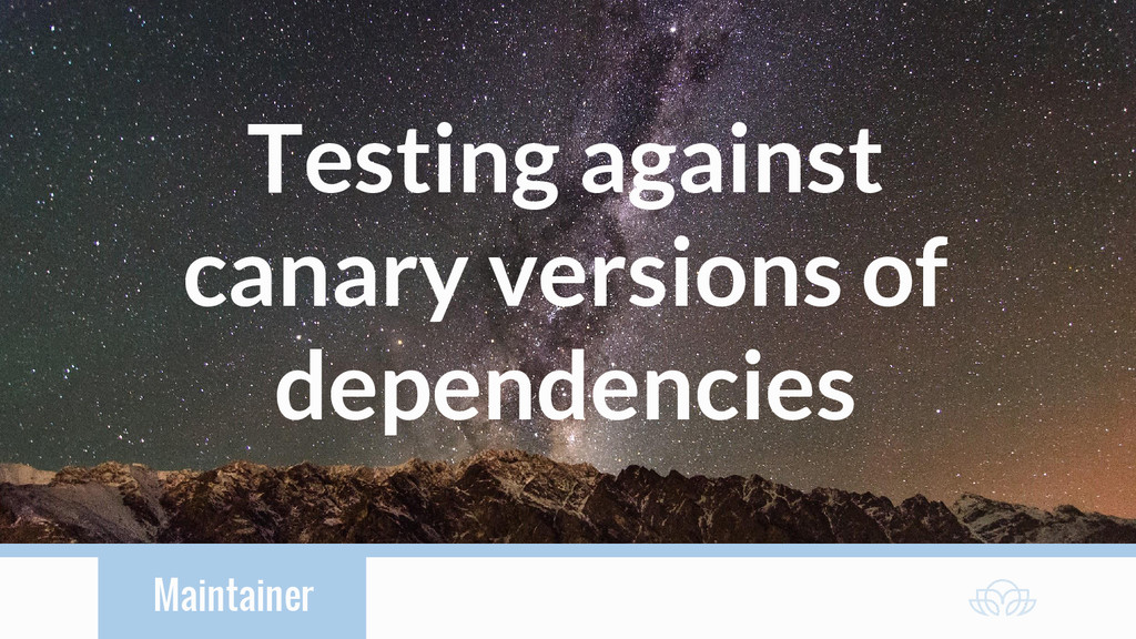 Maintainer Testing against canary versions of d...
