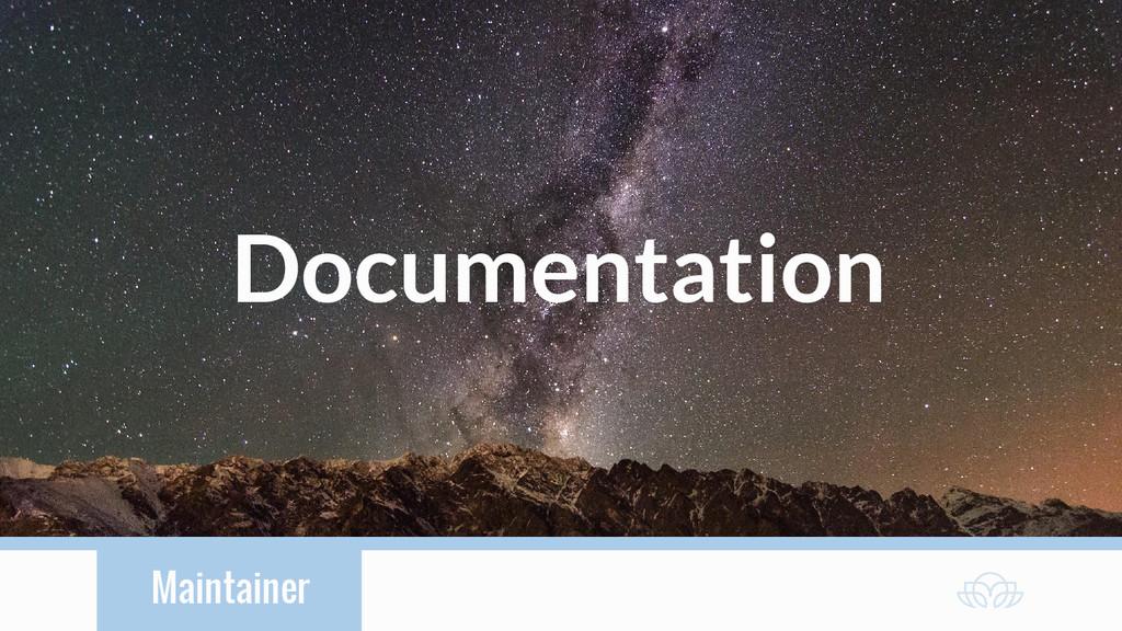 Maintainer Documentation