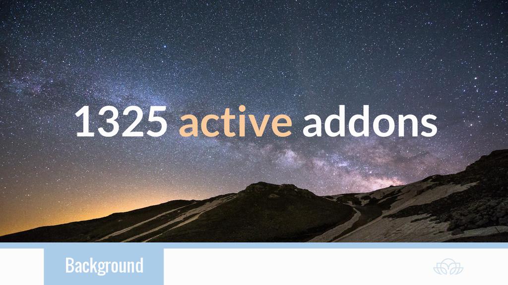 Background 1325 active addons