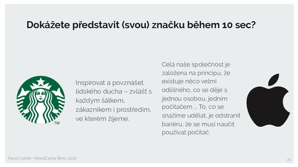 Pavel Cahlík—WordCamp Brno 2018 Dokážete předst...