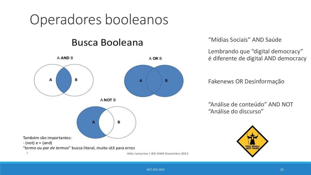 "INCT.DD| 2020 15 Operadores booleanos ""Mídias S..."