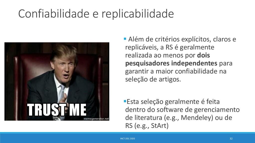INCT.DD| 2020 32 Confiabilidade e replicabilida...
