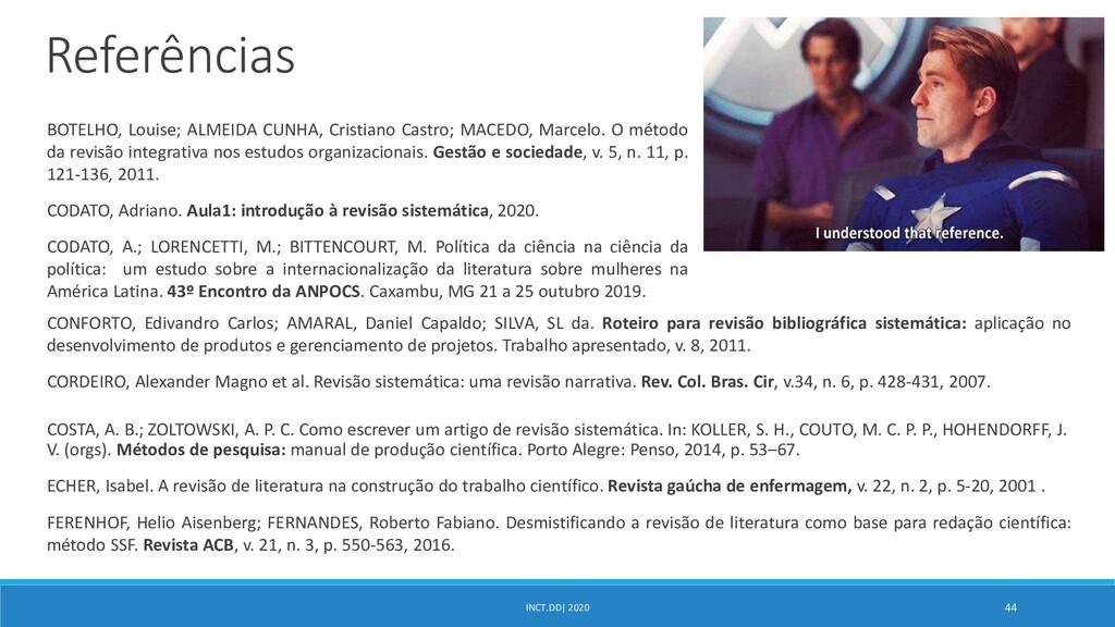 INCT.DD| 2020 44 CONFORTO, Edivandro Carlos; AM...