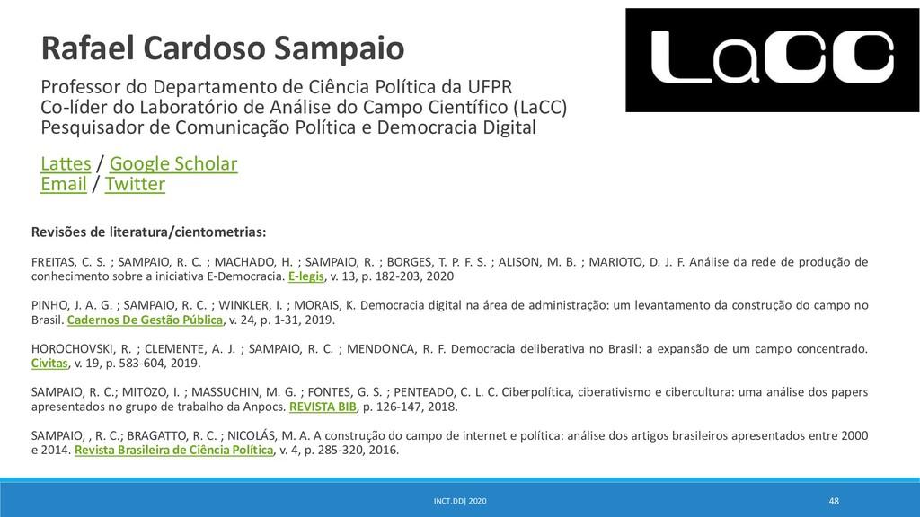 Revisões de literatura/cientometrias: FREITAS, ...