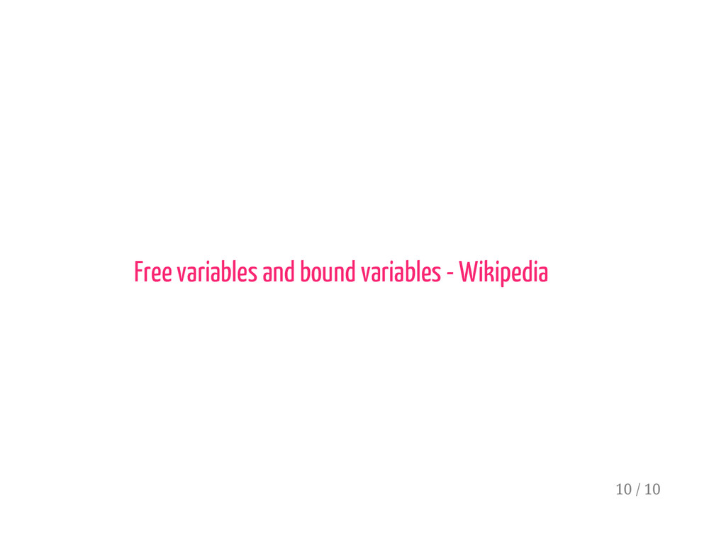Free variables and bound variables - Wikipedia ...