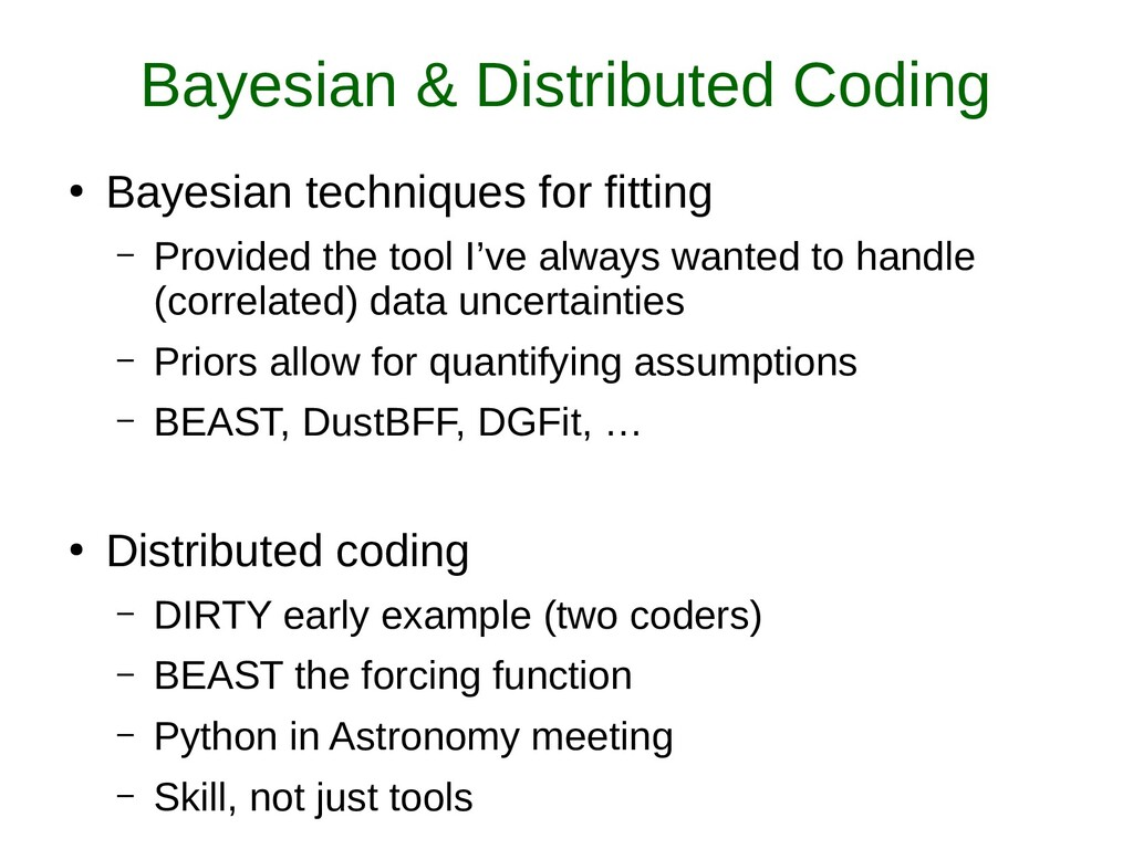 Bayesian & Distributed Coding ● Bayesian techni...