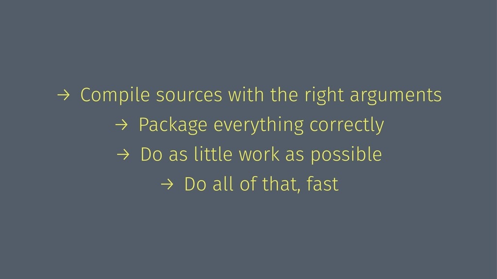 → Compile sources with the right arguments → Pa...