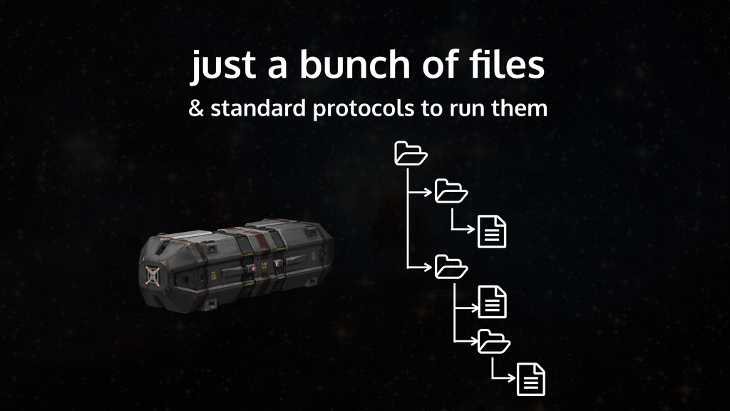 just a bunch of files & standard protocols to ru...