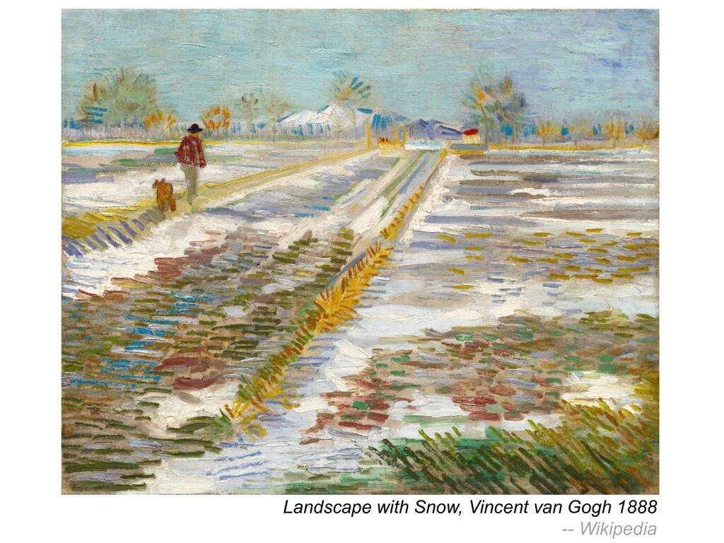 Landscape with Snow, Vincent van Gogh 1888 -- W...