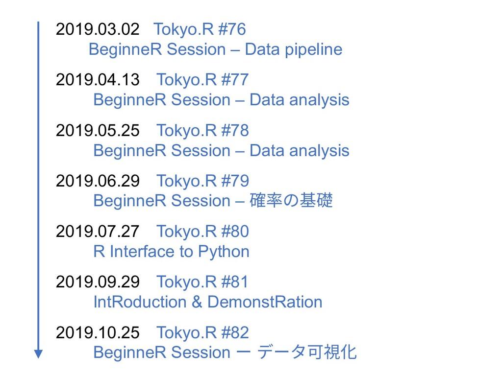 2019.03.02 Tokyo.R #76 BeginneR Session – Data ...