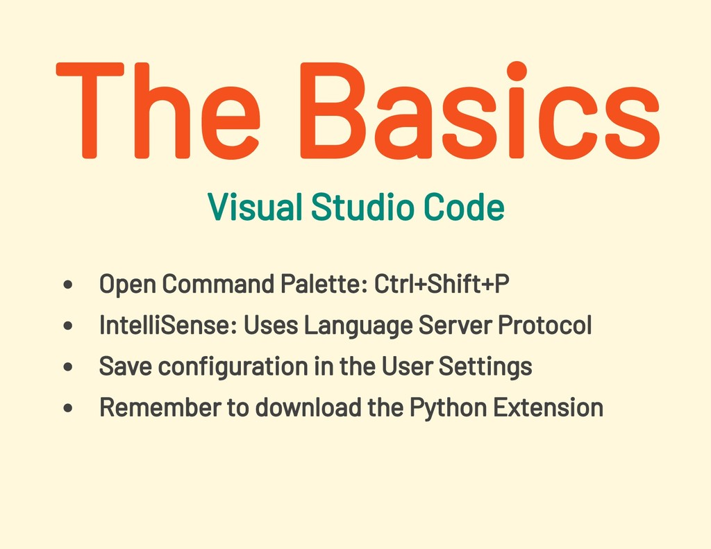 Visual Studio Code Open Command Palette: Ctrl+S...