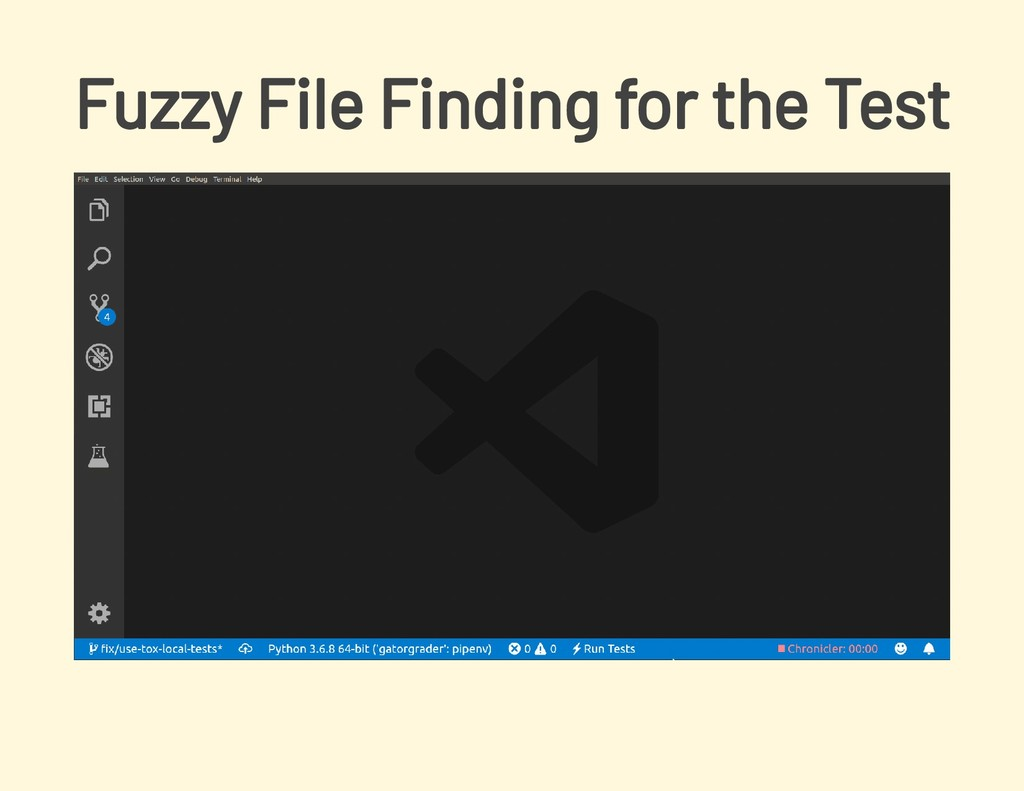 Fuzzy File Finding for the Test