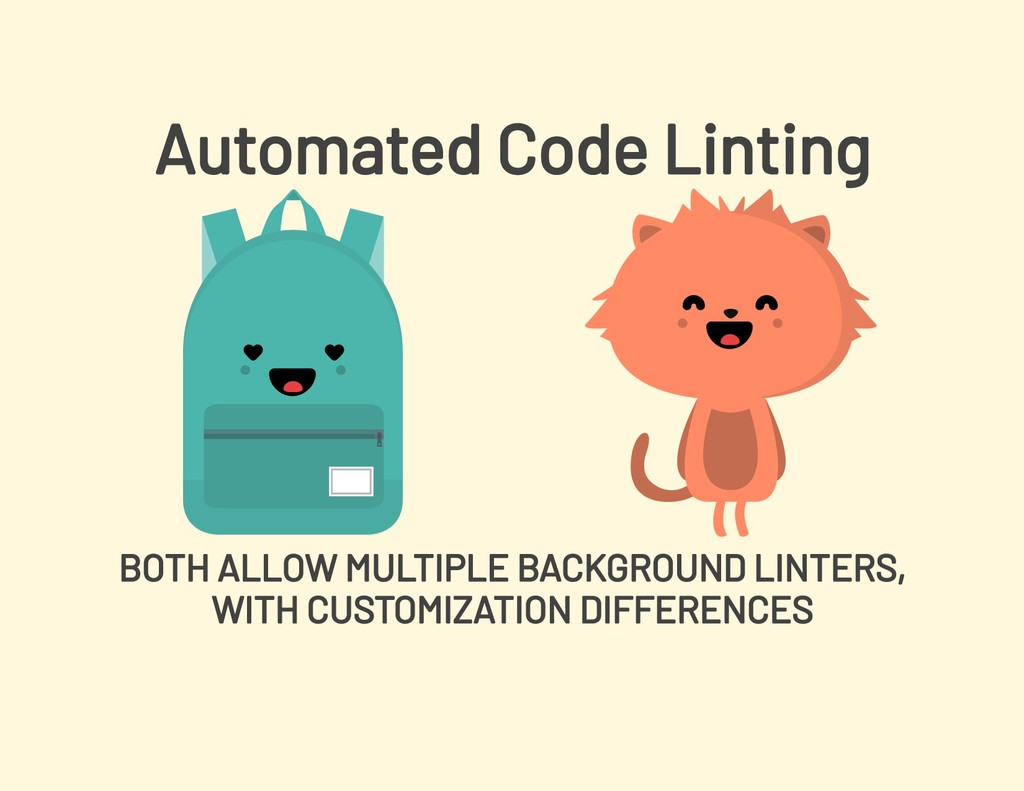 Automated Code Linting BOTH ALLOW MULTIPLE BACK...