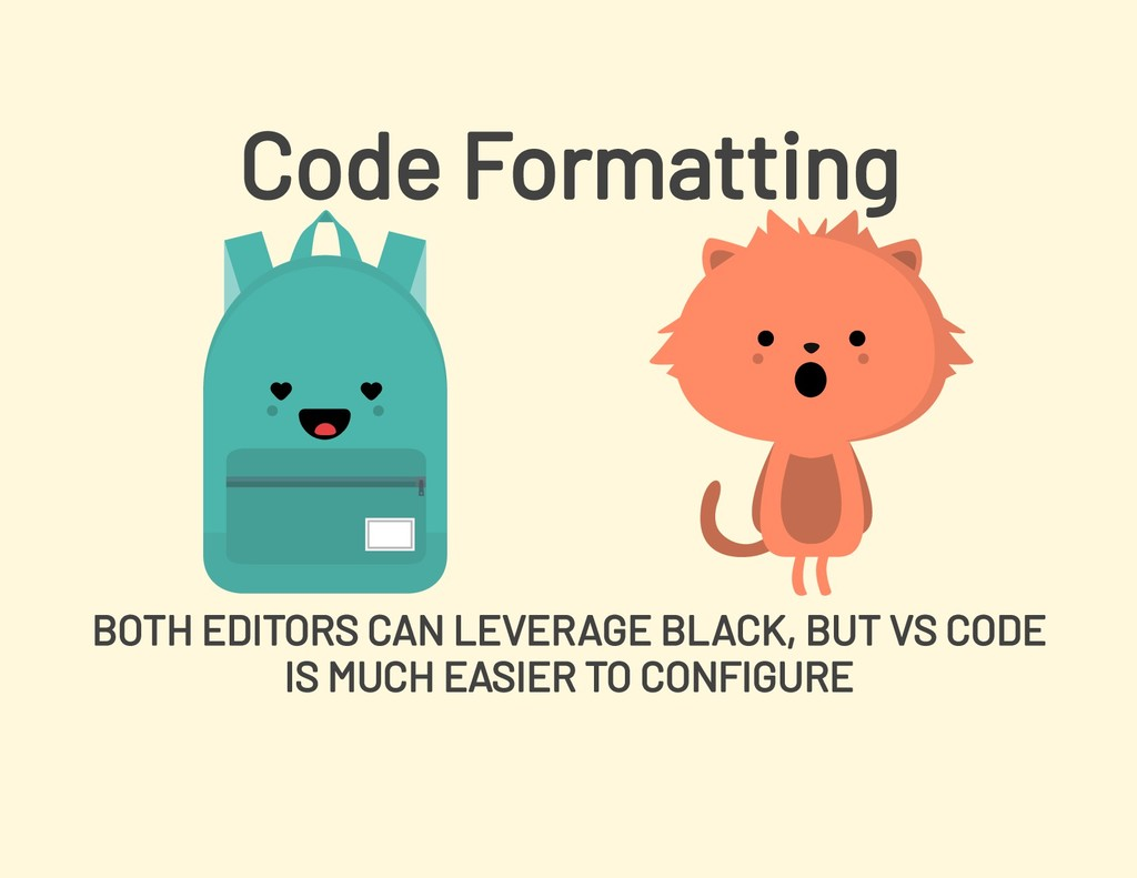 Code Formatting BOTH EDITORS CAN LEVERAGE BLACK...