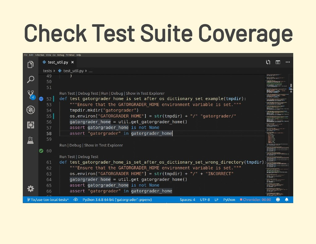 Check Test Suite Coverage