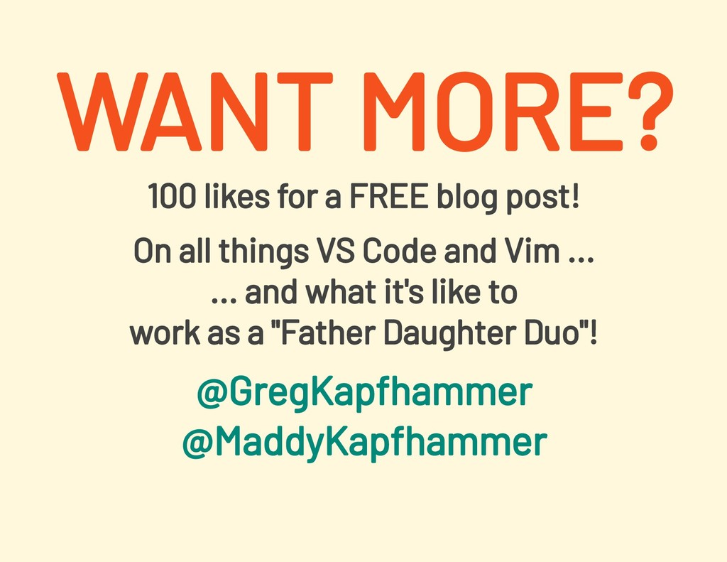 100 likes for a FREE blog post! On all things V...