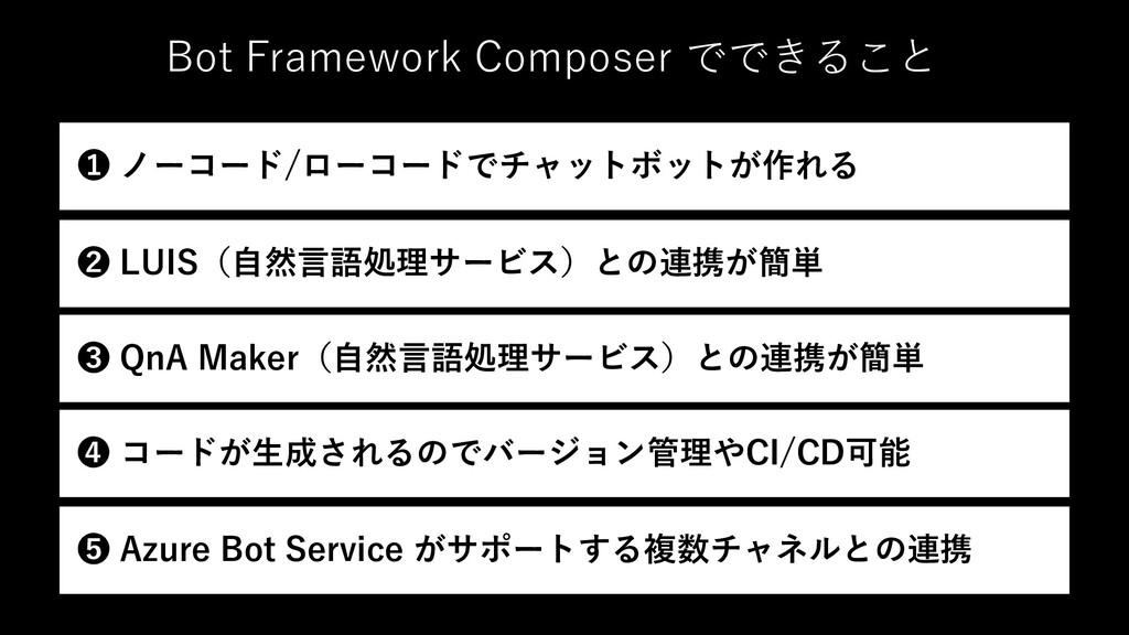 Bot Framework Composer でできること ❷ LUIS(⾃然⾔語処理サービス...