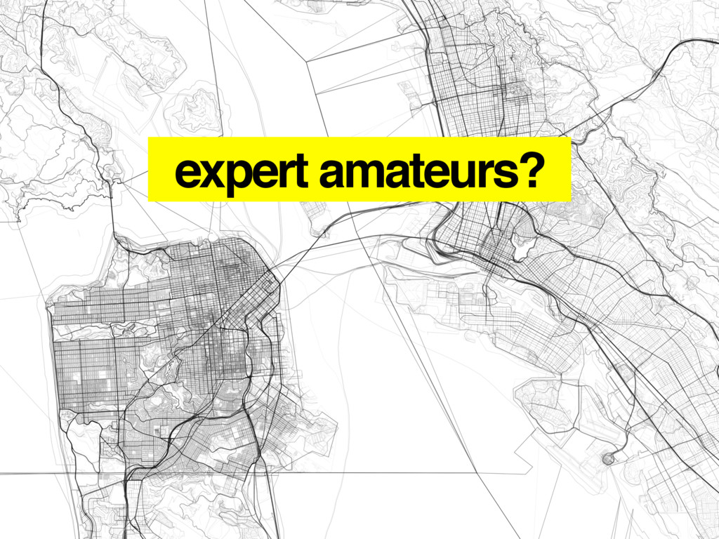 expert amateurs?