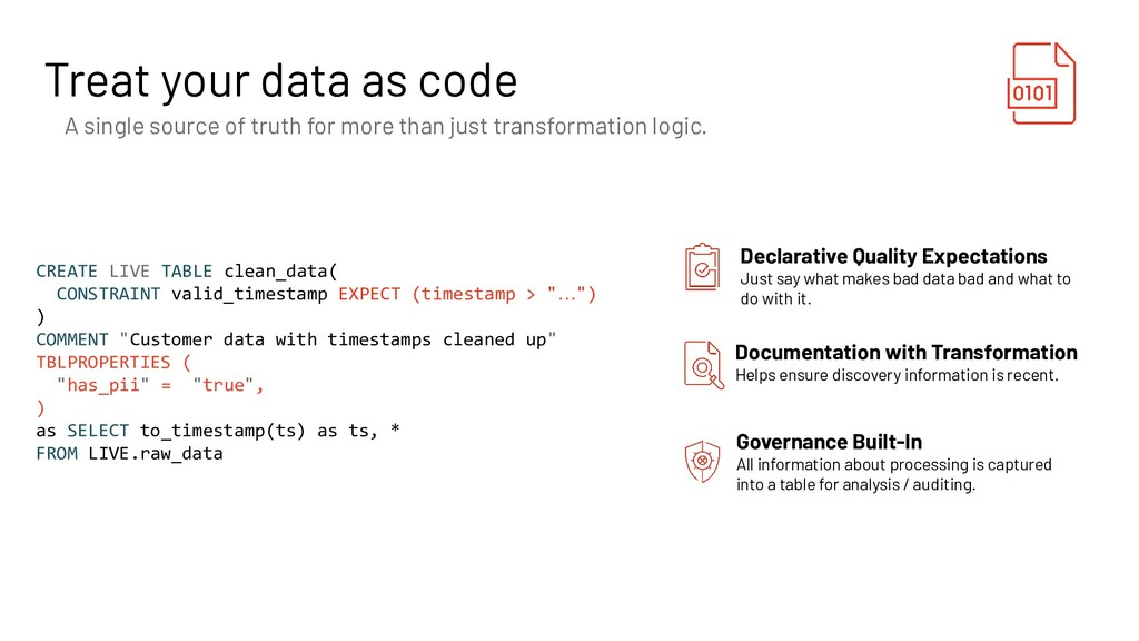 Treat your data as code A single source of trut...