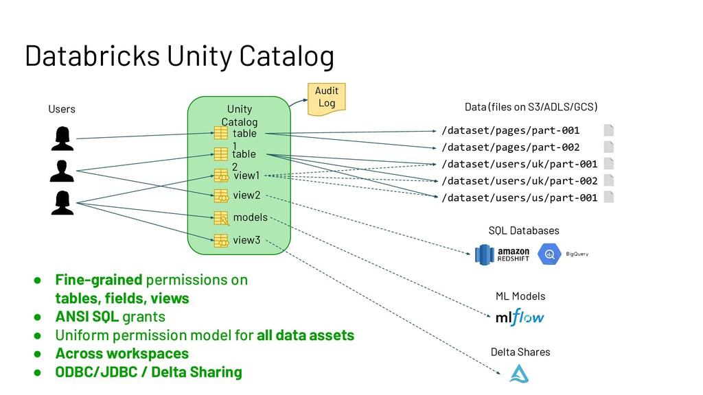 Databricks Unity Catalog Data (files on S3/ADLS/...