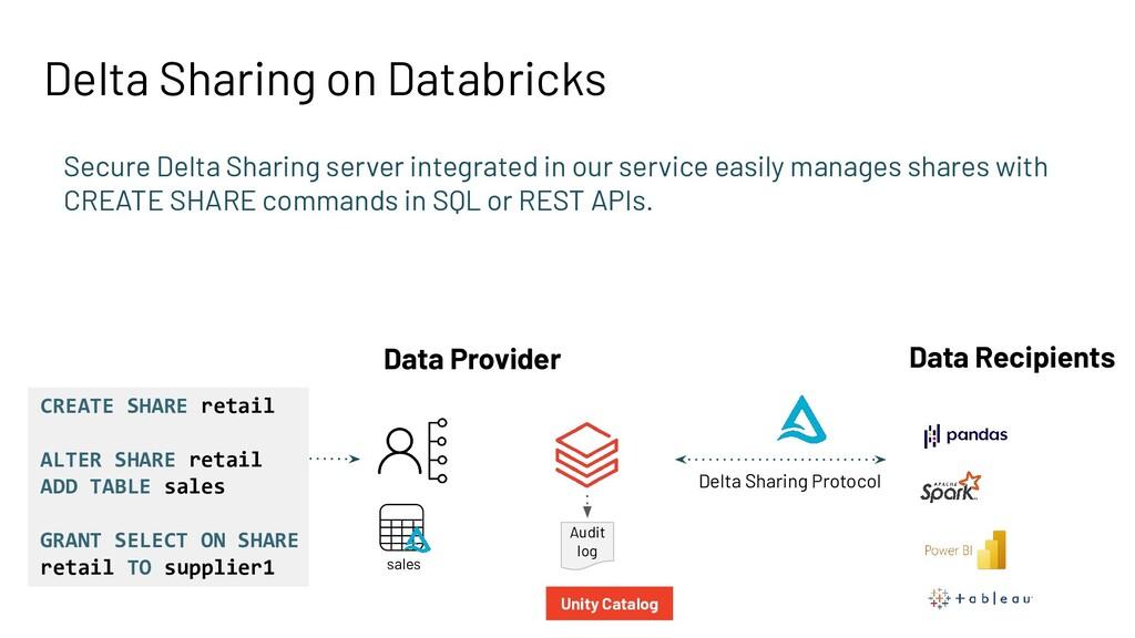 Delta Sharing on Databricks Secure Delta Sharin...